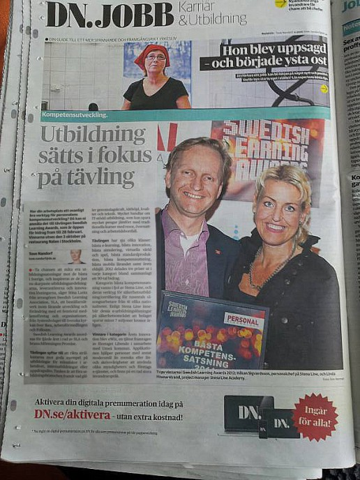 Swedish Learning Awards i DN 3/2 2013